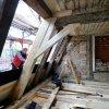 Zimmererarbeiten am Dachstuhl