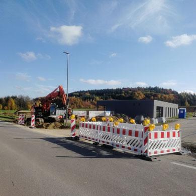 Beginn der Erschließungsarbeiten am Mischgebiet Nord III in Emersacker