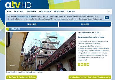 Fernsehbeitrag a.tv: Sanierung von Schloss Emersacker