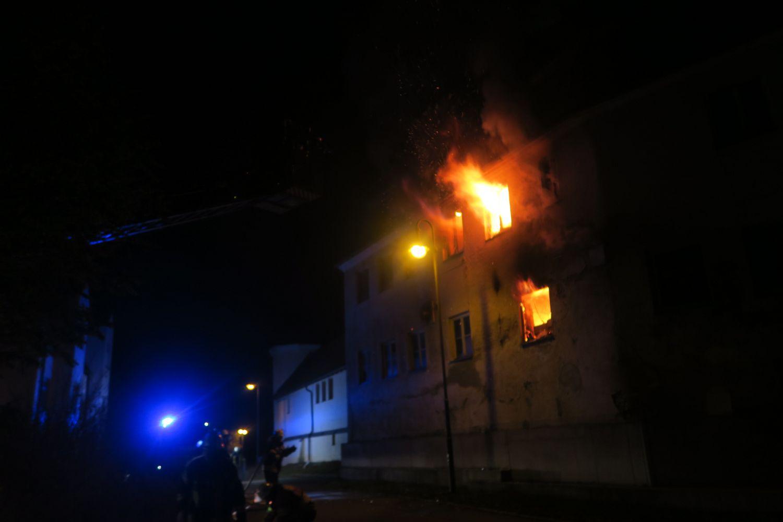 Großbrand im Schloss Emersacker